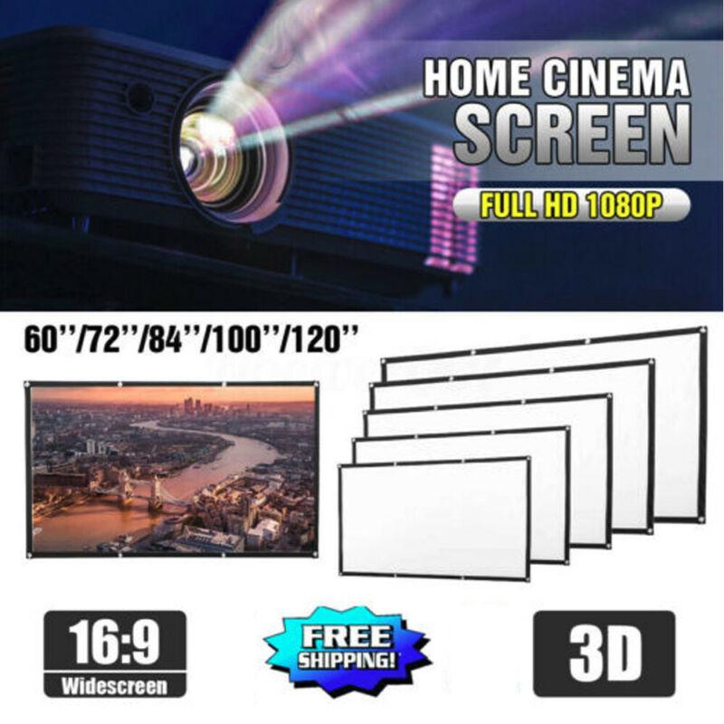 "72""-120"" HD Projector Screen 16:9 Home Cinema Theater Projec"