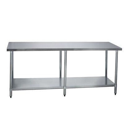 Stainless Steel Commercial Work Prep Table - No Backsplash - 24 X 84 G