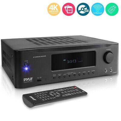 1000W 5.2ch Hi-Fi 4K BLUETOOTH AMPLIFIER FM STEREO HOME THEA