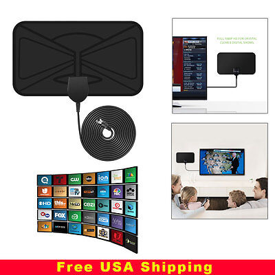 Thin Flat Antenna Hd High Definition Tv Fox Hdtv Dtv Lt Scout Style Tvfox Cable