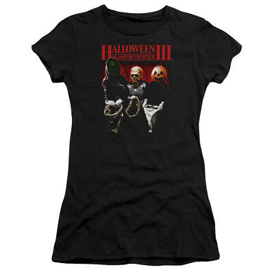 New Authentic Halloween 3 Trick Or Treat Movie Ladies Soft T-shirt Jr Medium top - New Halloween Movie 3