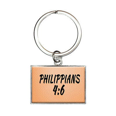 Bible Verse Philippians 4-6 Rectangle Keychain Key Ring