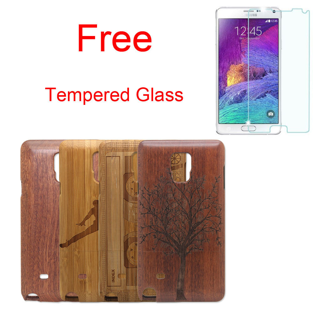 Real Natural Bamboo Wood Hard Cover Case Protector For Samsung Galaxy Note 4 - $7.99