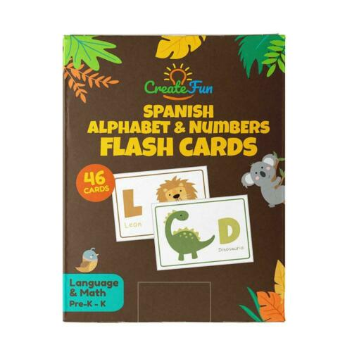Spanish Animal 123 and ABC Flash Cards for Babies, Toddlers,