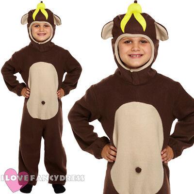 Animal Costumes For Boys (KIDS MONKEY COSTUME KIDS ANIMAL JUMPSUIT BOYS GIRLS SCHOOL BOOK WEEK FANCY)