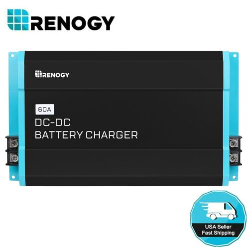 Renogy 60A DC to DC 12V Solar Battery Charger for Flooded, Gel, AGM, Lithium