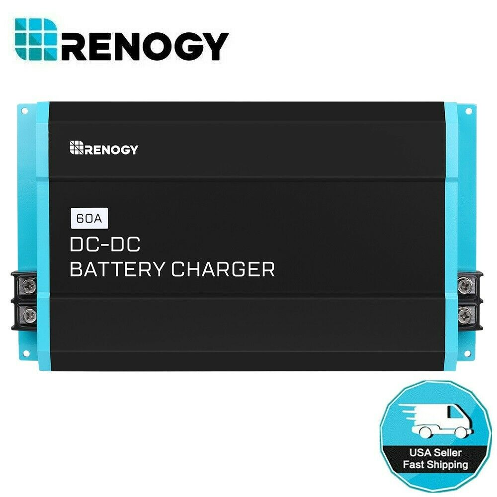 Renogy 60A DC to DC 12V Battery Charger for Flooded, Gel, AG