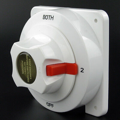 Dual Marine Battery Switch Selector for Boat RV Replaces Guest Perko 4 Position