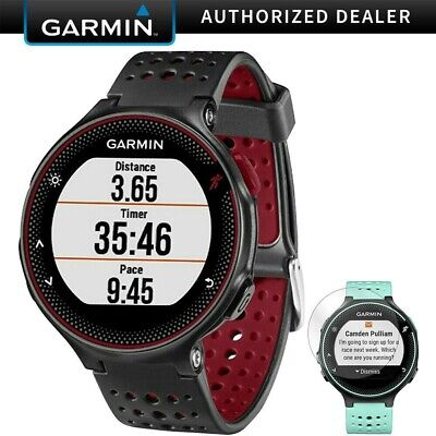 Garmin Forerunner 235 GPS Watch w/ Heart Rate Monitor Marsala + Screen Protector