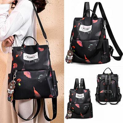 Mädchen Damen Backpack Rucksack Schultertasche Handtasche Bookbag Schwarz Oxford (Rucksack Bookbag)