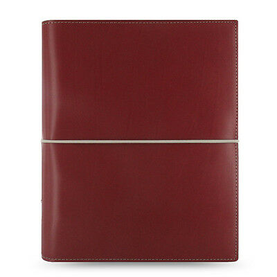 Filofax A5 Domino Organiser Notebook Diary Dark Red Leather - 027872 Gift New
