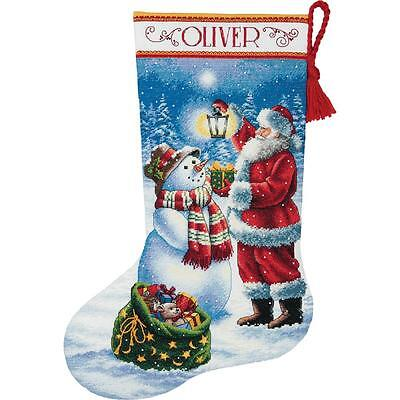 Counted Cross Stitch Kit HOLIDAY GLOW STOCKING Dimensions Gold Collection
