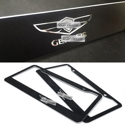 License Plate Aluminum Metal Hairline Black Frame GT Logo for 2017-2018 Stinger