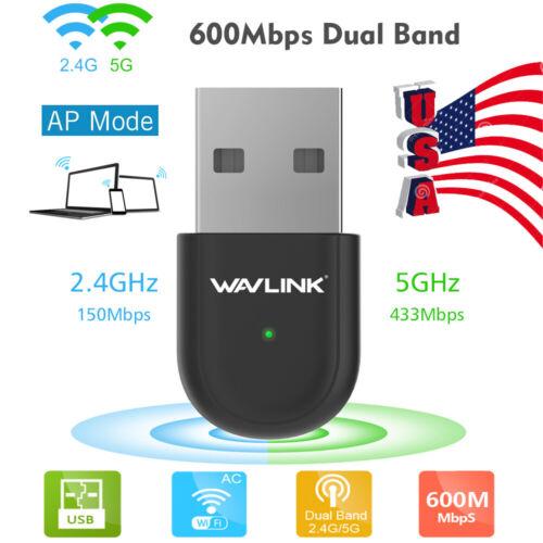 Wavlink 600Mbps Mini WiFi Adapter USB Dual Band Wifi Dongle
