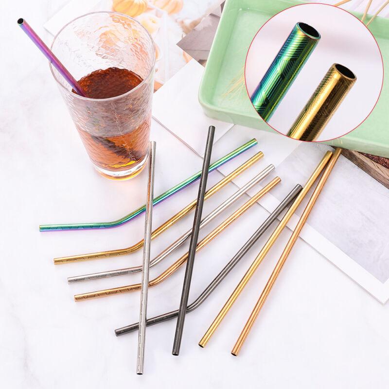 Bend Home /& Kitchen Filter Barware Bar Tool Metal Straw Drinking Straws