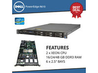 "Dell PowerEdge R610 2x SIX CORE XEON X5650 2.66GHz + 16Gb + 1x 146GB SAS 2.5"" server"