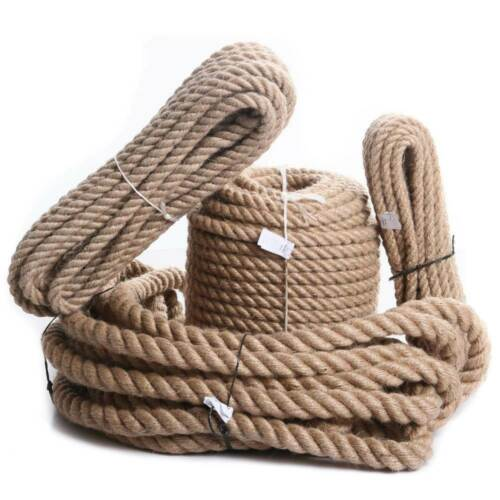 JUTESEIL 6-60mm Hanfseil Tauwerk Kordel Jute Rope Gedreht Naturhanf Tauziehen