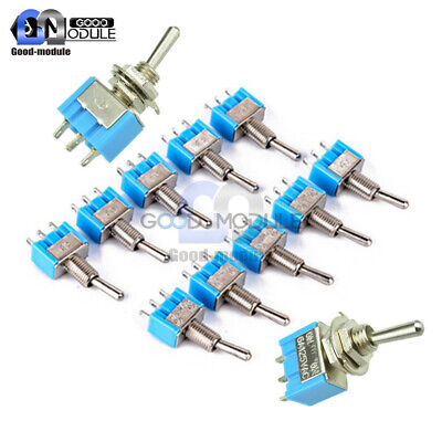 2510pcs Mini Spdt Mts-102 3 Pin On Off Ac Miniature Toggle Switches 6a 125v