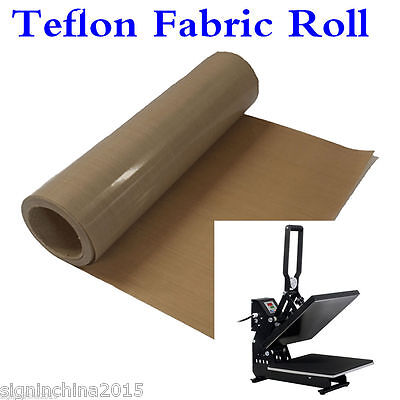"39"" x 5 Yard Teflon Fabric Sheet Roll 3Mil Thickness for Sublimation Printing"