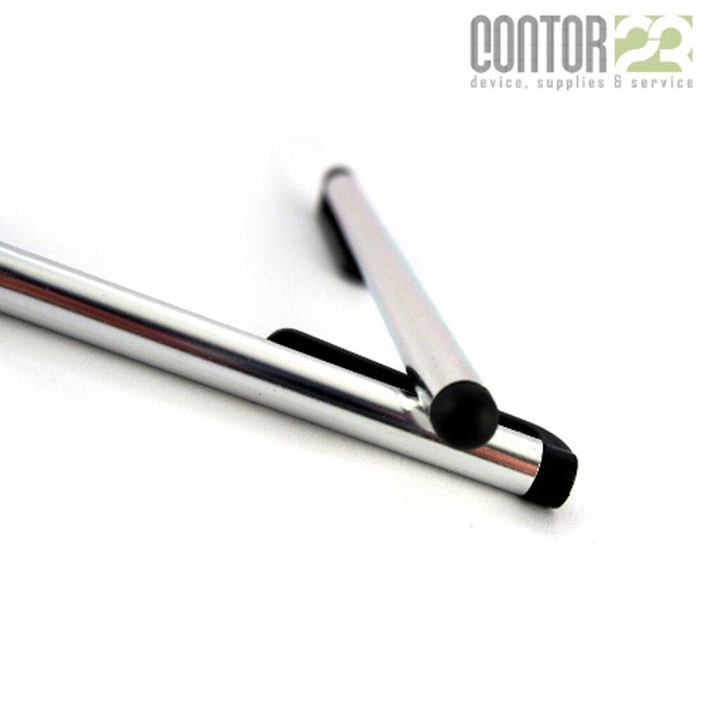 2x Eingabestift Stylus/Touch Pen/Stift [iPhone iPad Samsung Galaxy Nokia]silber