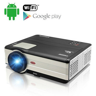 HD LED Beamer Projektor Heimkino Android WiFi USB 1080p Groß Bildschirm Kabellos