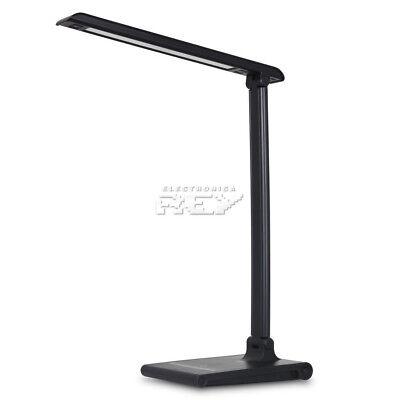 Lámpara Flexo Plegable Luz LED 5 W Cabezal 30 LED Color Negro...