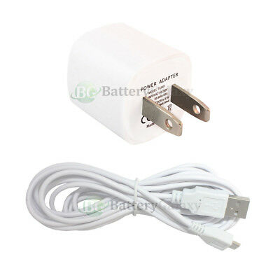 10' USB Cable+Wall Charger for Phone Samsung Galaxy J7 Perx /J7 Prime /J7 V/Halo