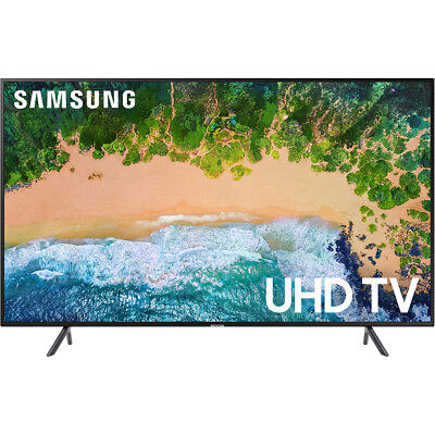 Samsung Un43nu7100 Flat 43  4K Uhd 7 Series Smart Led Tv With Hdr In Black