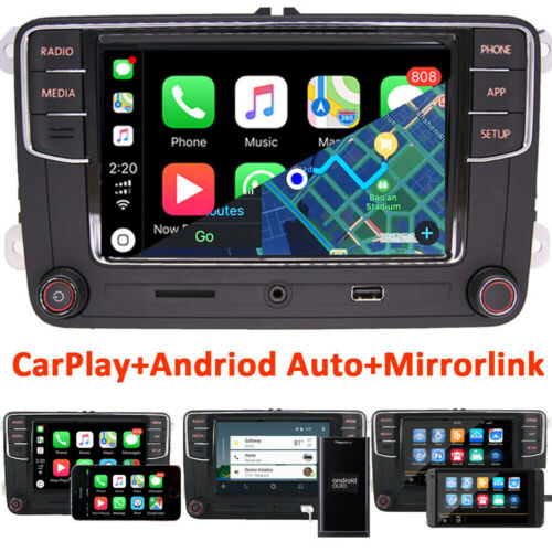 RCD330,Autoradio Carplay,Android Auto,RVC,USB BT Für VW GOLF POLO SEAT EOS