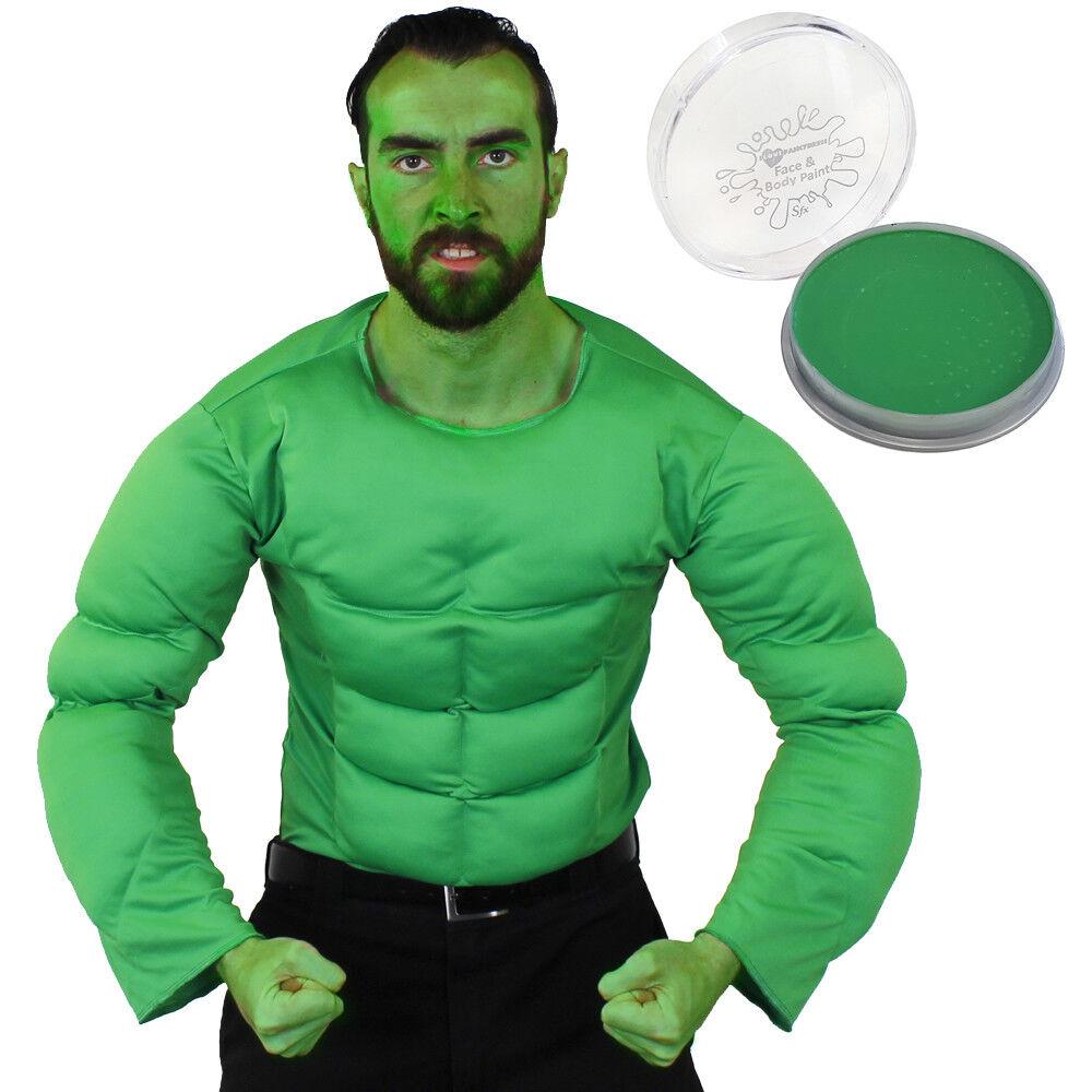Green Superhero Muscle Chest