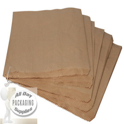 100 LARGE BROWN PAPER BAGS ON STRING SIZE 10 X 10