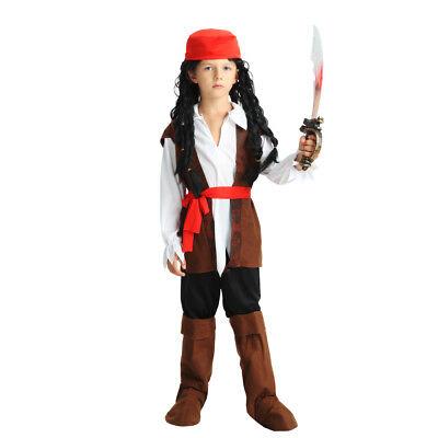 2018 Boy's Pirates Of the Caribbean Halloween Costumes Uniform Kid Costume Fancy](Halloween Costumes Pirates Of The Caribbean)