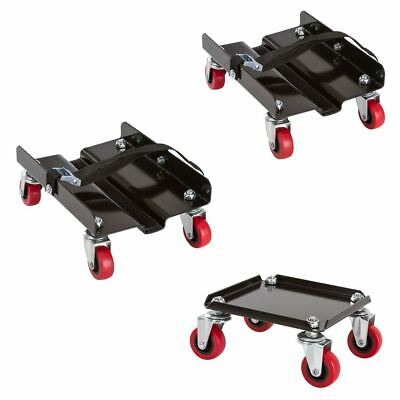 Four Wheel Snowmobile Dolly 3-Piece Set Sled Mover
