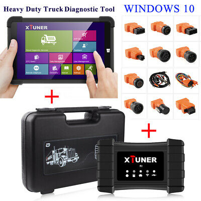Heavy Duty Truck Wireless Diagnostic Scan Tool for Windows + Tablet XTuner T1