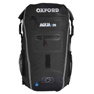 Oxford Aqua B25 Black Grey Motorcycle Bike Backpack Rucksack New OL962