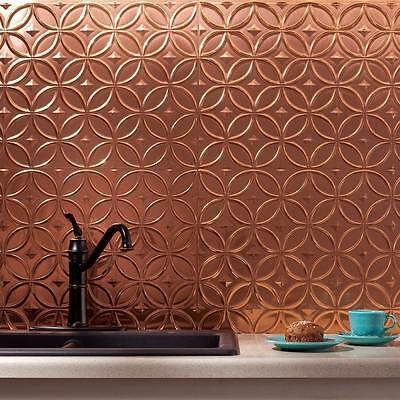 (Kitchen Backsplash Decorative Copper Vinyl Panel Wall Tiles Bathroom Plastic )
