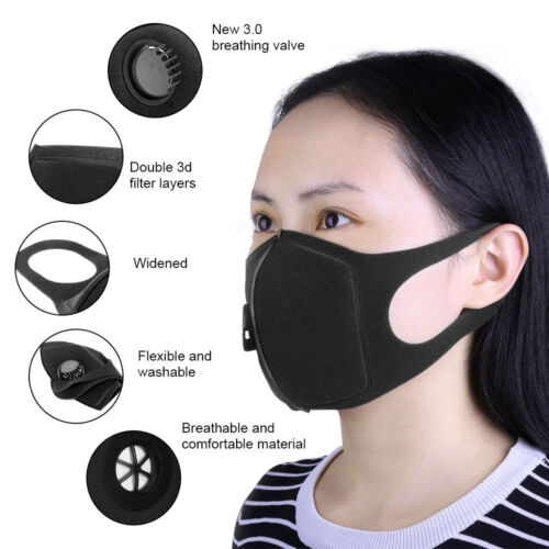 Dust Mask Double Filter Anti Pollution Air PM2.5 Face