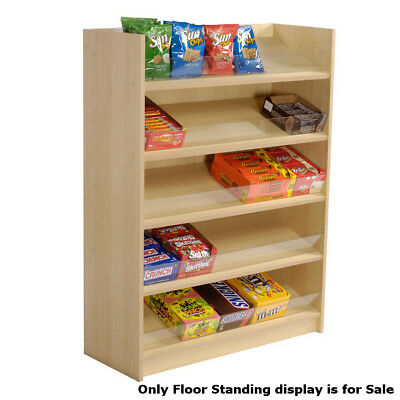 Maple Laminated Five Shelf Candy Floor Standing Display 36 W X 14 D X 48h