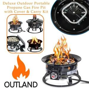 NEW Outland Firebowl 893 Deluxe Outdoor Portable Propane Gas Fire Pit with Cover  Carry Kit, 19-Inch Diameter 58,000 ...