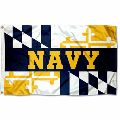 Navy Midshipmen Maryland State NCAA Flag Tailgating Banner