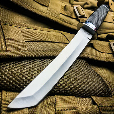 "13"" TACTICAL BOWIE SURVIVAL HUNTING KNIFE MILITARY Combat Fixed Blade w/ SHEATH"