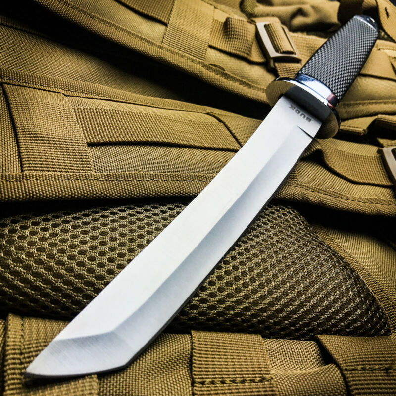 """13"""" TACTICAL BOWIE SURVIVAL HUNTING KNIFE MILITARY Combat Fixed Blade w/ SHEATH"""