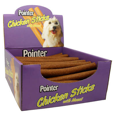 Pointer 50 Chicken Sticks Dog Biscuits Treats Snacks Chews