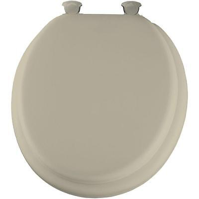 Soft Padded Round Closed Front Bathroom Toilet Seat Lid Cover Lift Off Hinges  for sale  Shipping to Canada