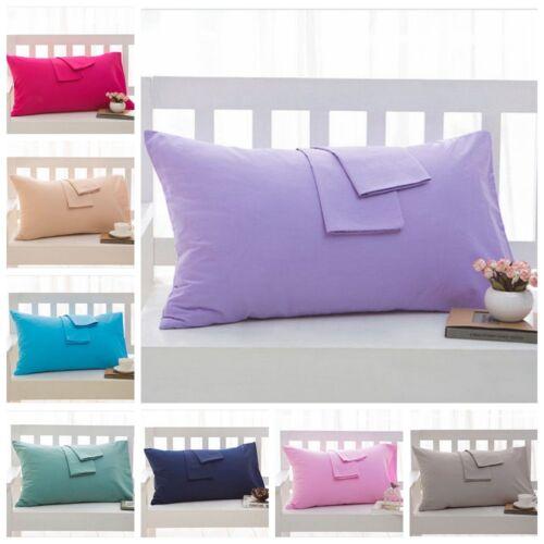 2PCS Egyptian Cotton Pillow Cases Pillowcases Standard Stand