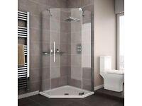 glass shower unit no base,new