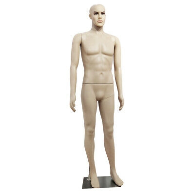 185cm Male Full Body Realistic Mannequin Display Make-up Manikin Stand Plastic