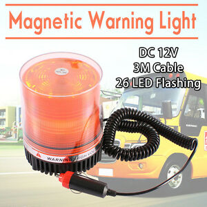 LED Warning Flashing Lamp Light Emergency Magnetic Beacon Car Truck Safety Amber