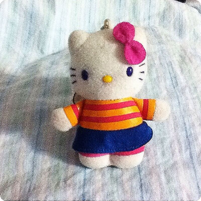 Hello Kitty Plushy Keychain