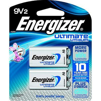 Energizer Ultimate Lithium Batteries 9V 2 Pack Exp. 2026 (L522BP-2)